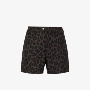 Tom Ford Mens Brown Leopard Print Swim Shorts
