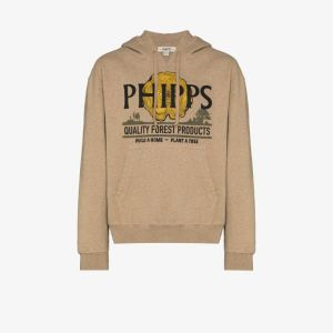 Phipps Mens Brown Forest Logo Hoodie