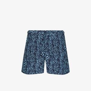 Orlebar Brown Mens Blue Setter X Printed Swim Shorts