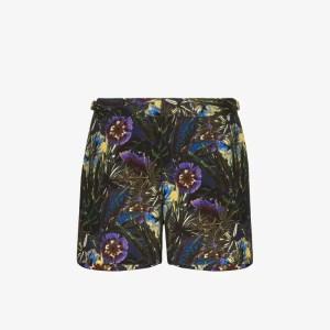Orlebar Brown Mens Black Setter X Floral Swim Shorts