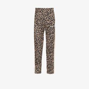Palm Angels Mens Brown Leopard Print Sweatpants