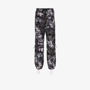 Marcelo Burlon County Of Milan Mens Grey High-rise Camouflage-print Track Pants