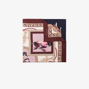 Salvatore Ferragamo Womens Brown Elizabeth Silk Scarf