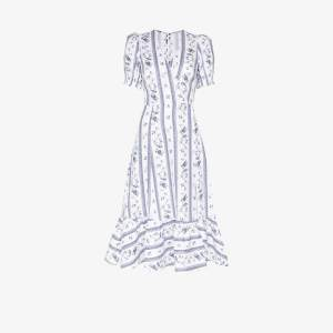 Reformation Womens White Veronika Printed Wrap Dress