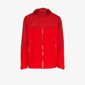 Mammut Mens Red Paclight Hooded Jacket