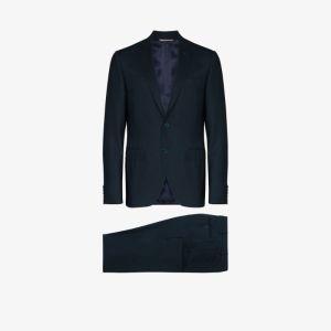 Canali Mens Blue Two-piece Suit