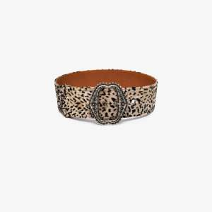 Etro Womens Brown Leopard Print Large Belt