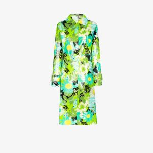 Moncler Genius Womens Green 8 Moncler Richard Quinn Charlie Floral Trench Coat
