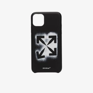 Off-white Mens Black Stencil Iphone 11 Pro Max Case