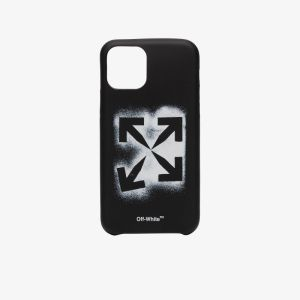 Off-white Mens Black Stencil Iphone 11 Pro Case