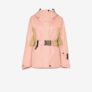 Moncler Grenoble Womens Pink Paquier Ski Padded Jacket