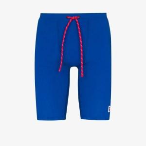 District Vision Mens Blue Tomtom Drawstring Compression Shorts