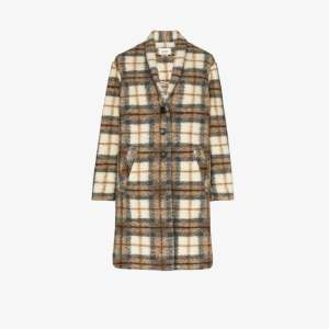 Isabel Marant étoile Womens Neutrals Gabriel Checked Single-breasted Coat