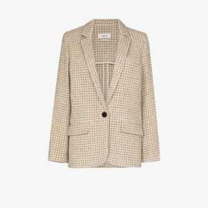 Isabel Marant étoile Womens Neutrals Charly Checked Wool Blazer