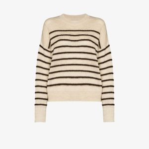 Isabel Marant étoile Womens Neutrals Gatlin Striped Sweater