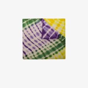 The Elder Statesman Mens Green Multicoloured Kaleidoscope Cashmere Blanket Scarf