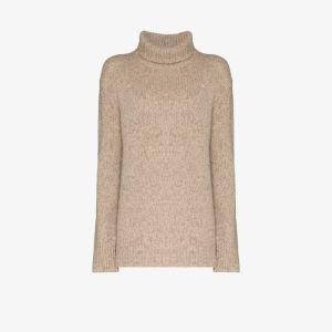 Joseph Womens Neutrals Turtleneck Knit Sweater