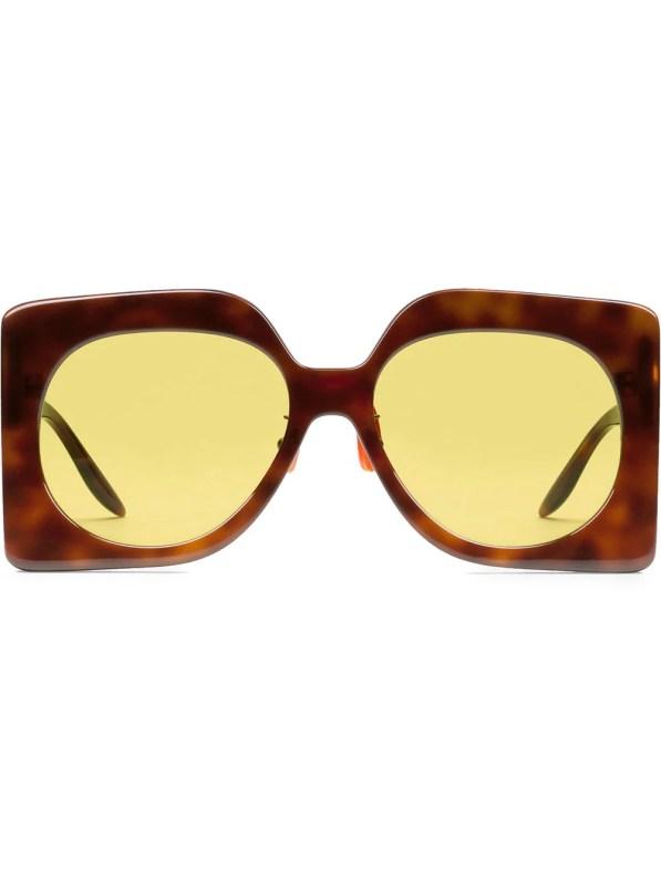 Image 1 of Gucci Eyewear oversized-frame tinted sunglasses