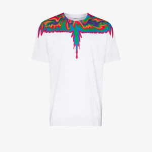 Marcelo Burlon County Of Milan Mens Multicolour Psychedelic Wings Cotton T-shirt