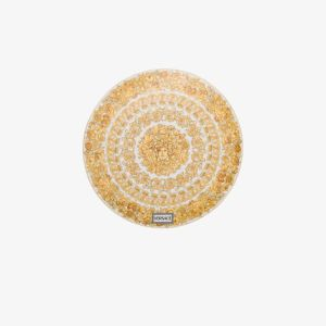 Versace Womens Yellow White Medusa Rhapsody Porcelain Plate