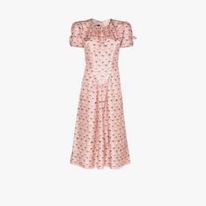 The Marc Jacobs Womens Pink The '40s Icing Print Silk Dress