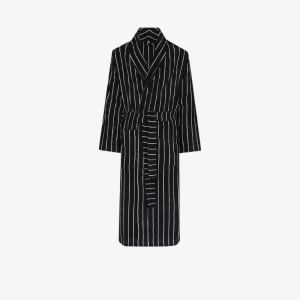 TEKLA striped organic cotton dressing gown