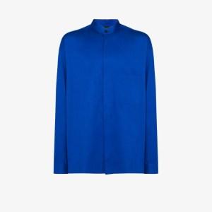 Haider Ackermann Mens Blue Cotton Shirt
