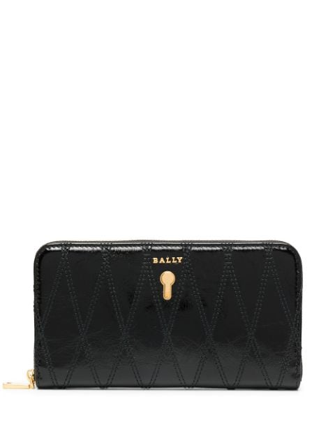 Bally black zip-up leather purse for women | 6236370 at Farfetch.com