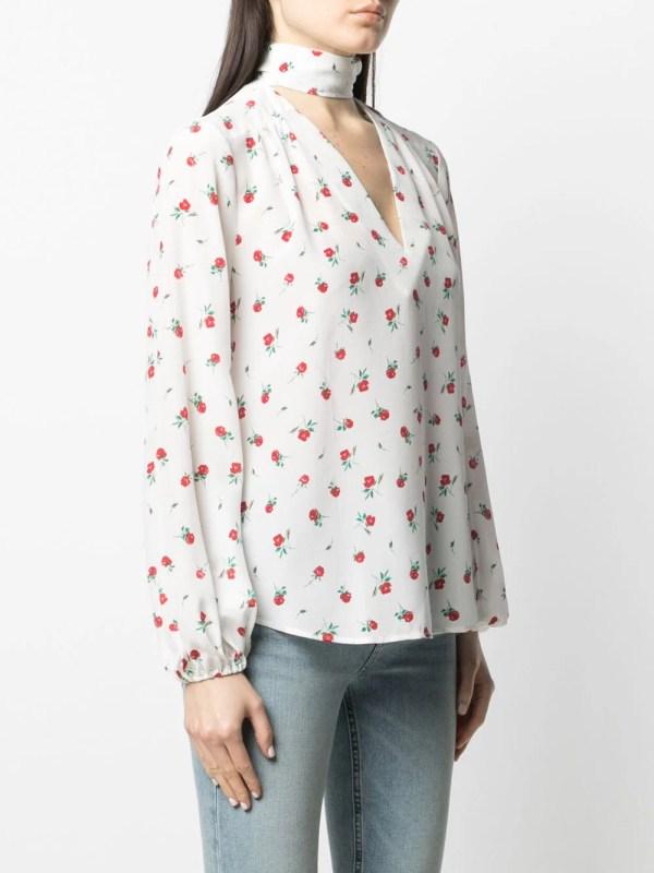 Rixo Moss rose bud-print blouse