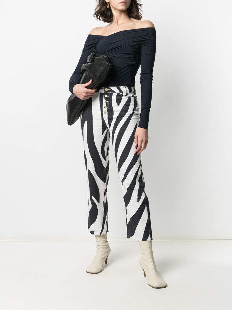 House of Sunny zebra print jeans