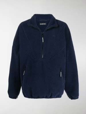 Balenciaga zip-up fleece jacket