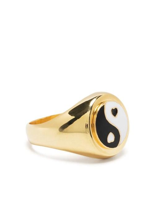 Wilhelmina Garcia yin yang signet ring