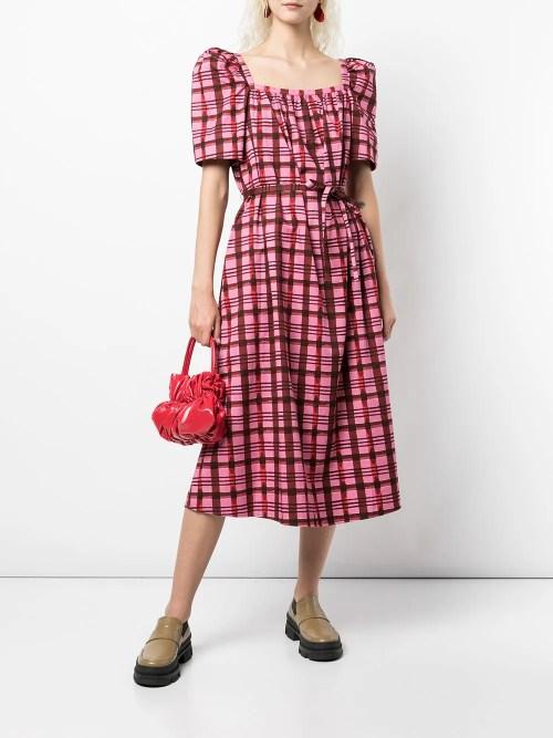 Image 2 of Baum Und Pferdgarten Aiko checked cotton dress