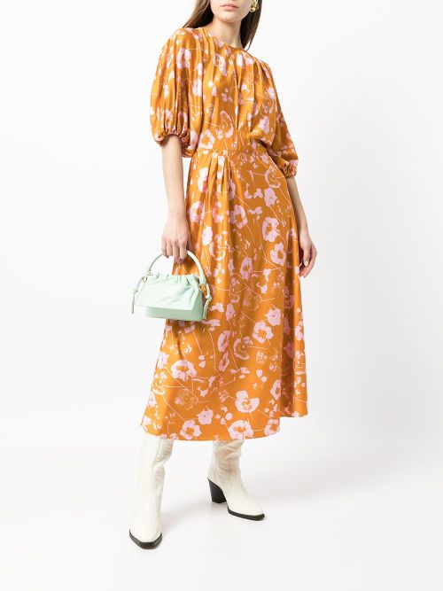 Stine Goya Aubrie floral-print midi dress