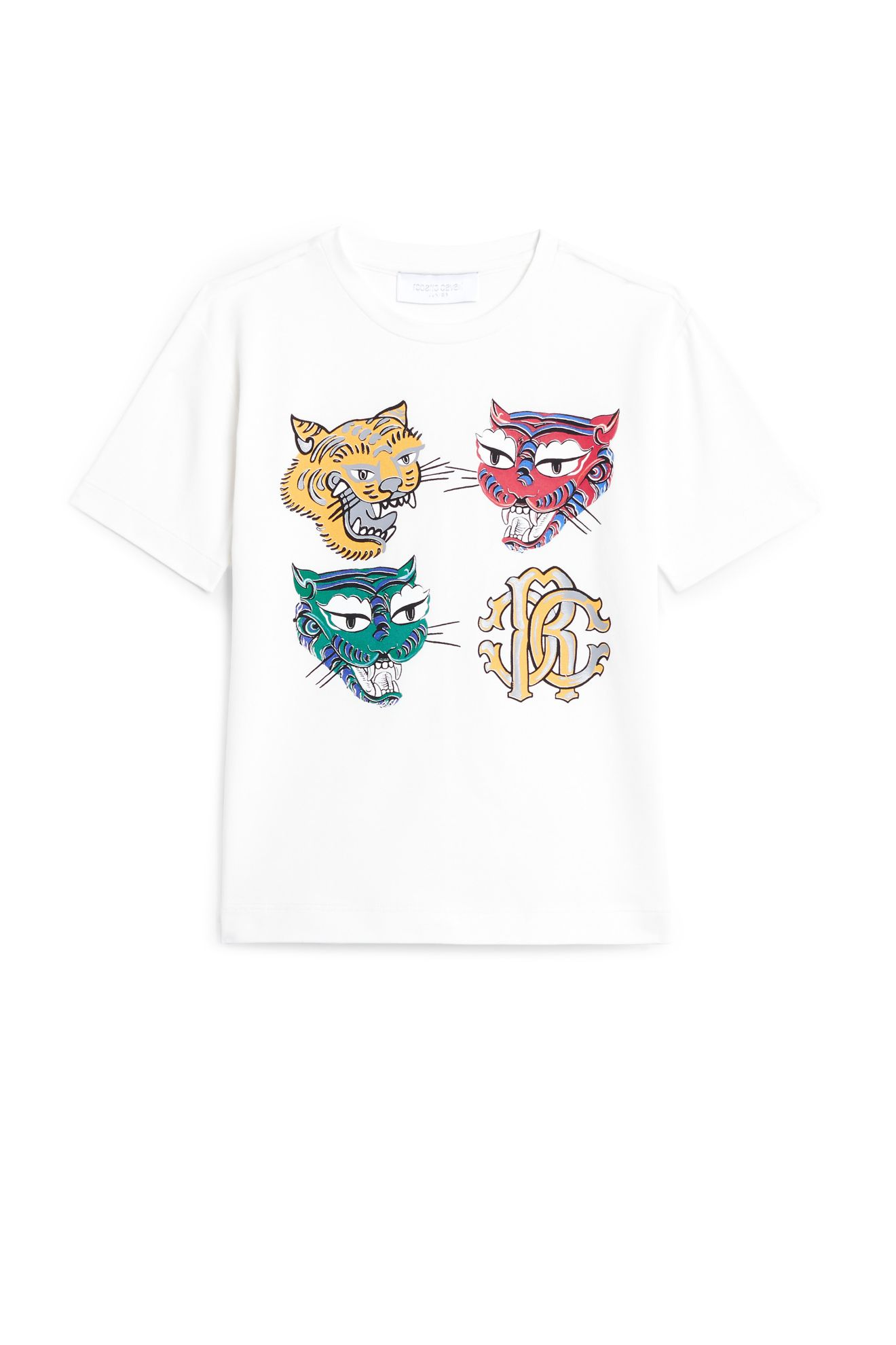 Laughing Tigers Print T Shirt