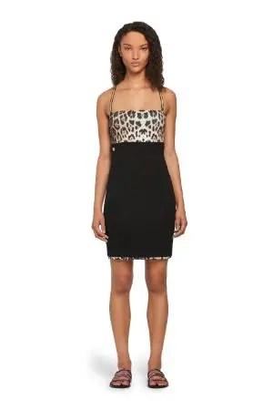 Mini abito con stampa Leopard
