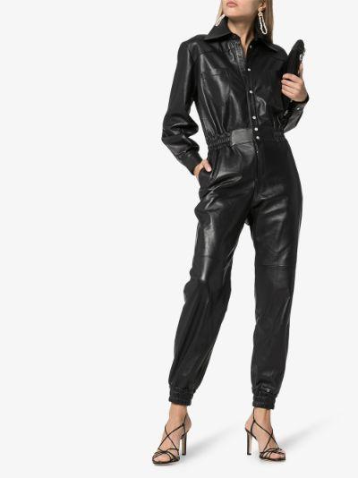nico leather jumpsuit