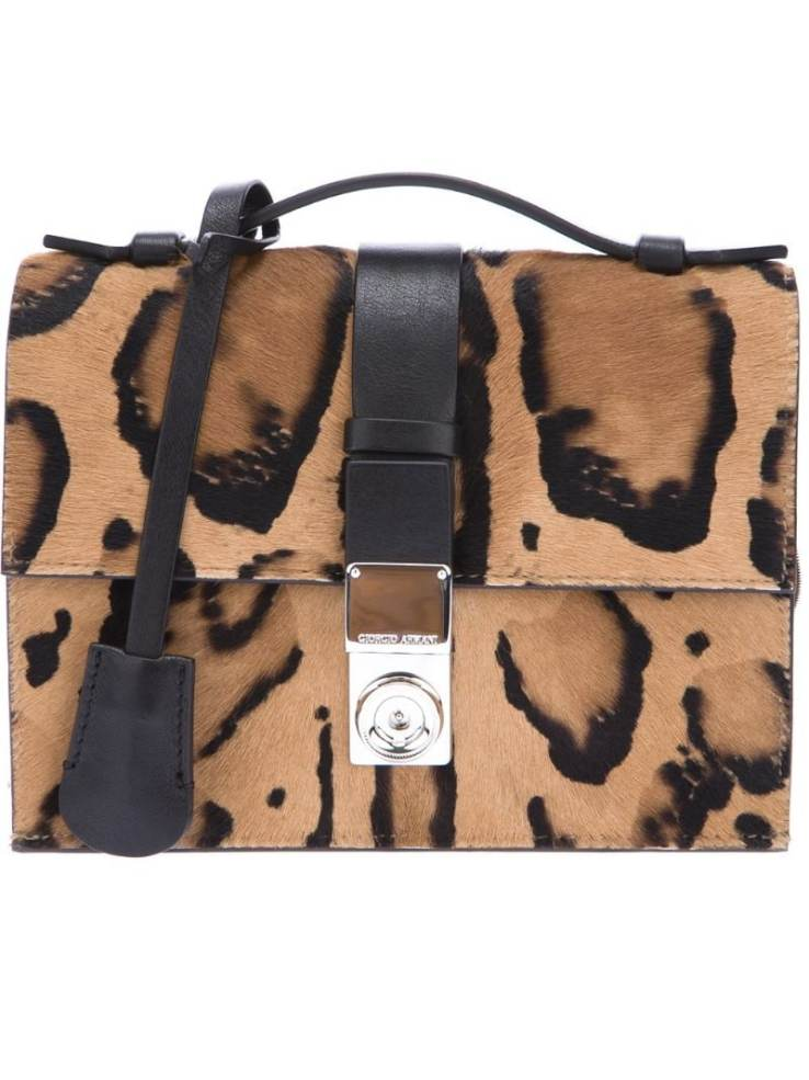 GIORGIO ARMANI leopard print shoulder bag