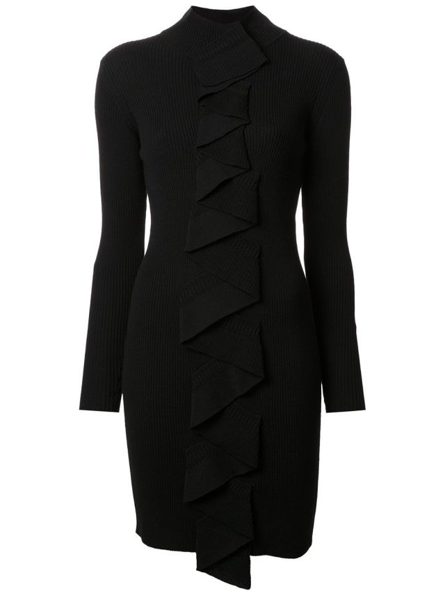 Marc Jacobs ruffled placket knit dress