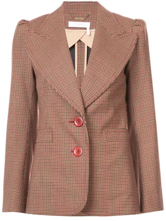 Chloé - micro checked blazer, $2395.0