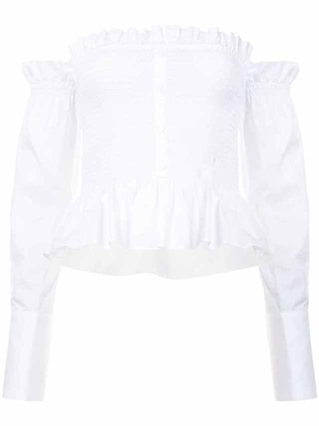Petersyn Frilled Bardot Top, $280
