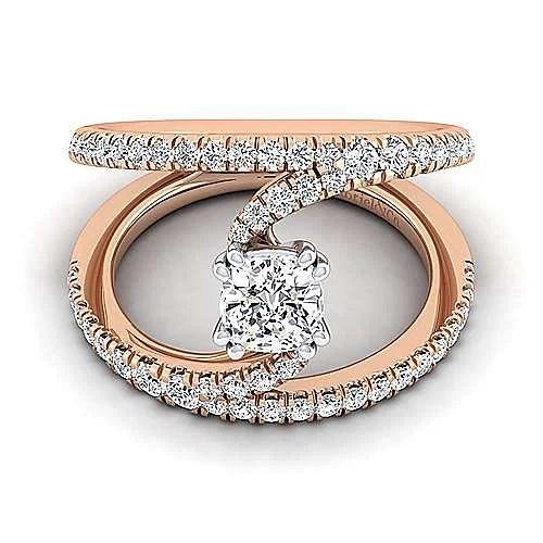 14k rose gold cushion cut split shank diamond engagement ring er12416c4t44jj