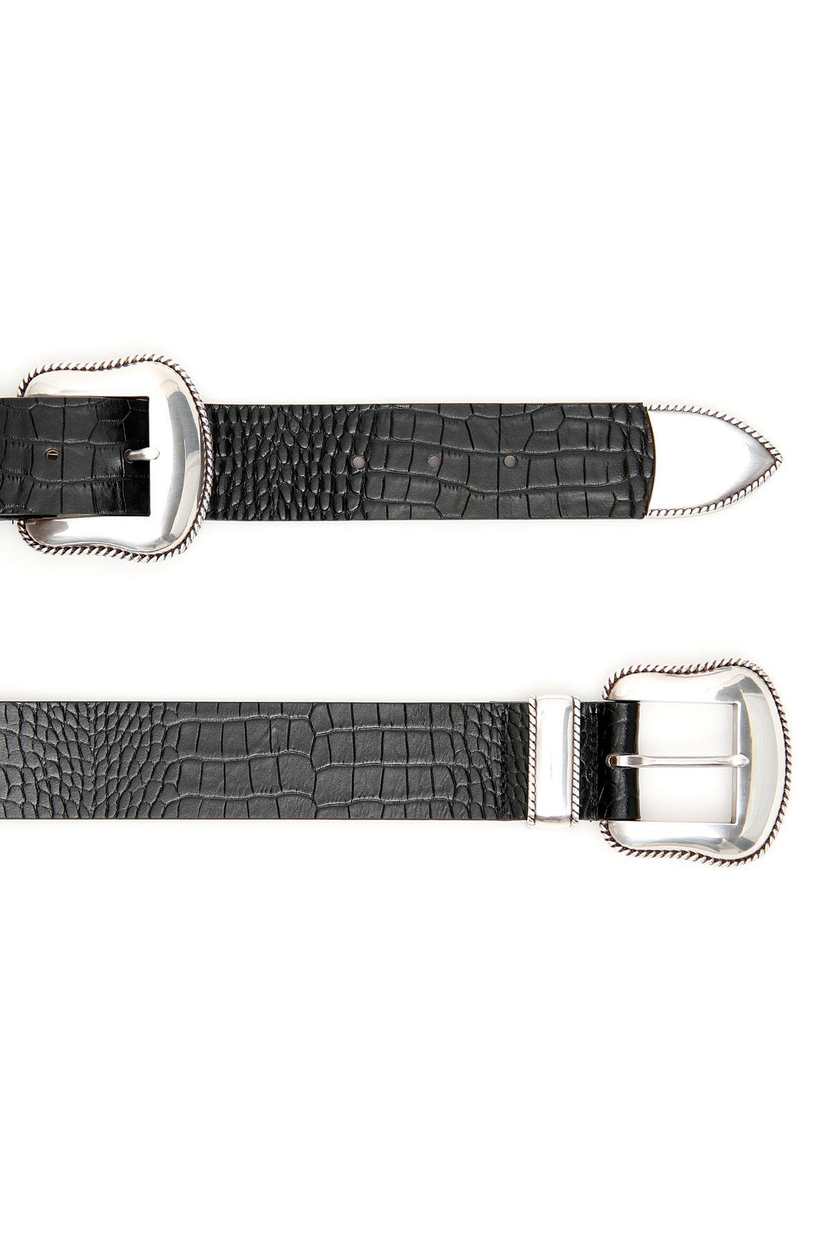 B Low The Belt B Low The Belt Rouge Croco Belt With Double