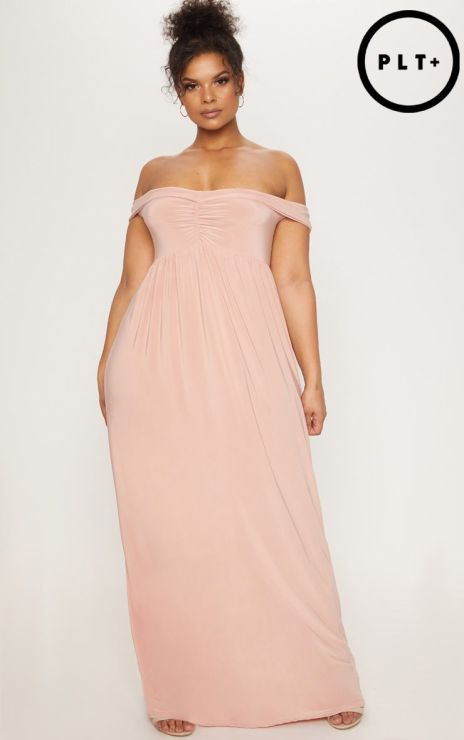 This is one of the best plus size wedding guest dresses for summer!