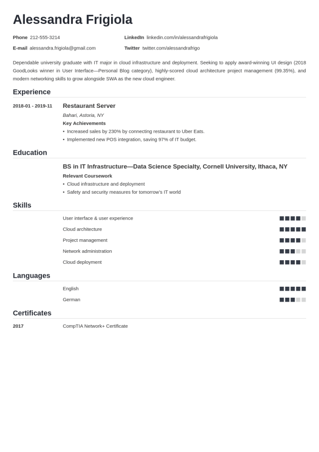 Entry Level Resume Examples, Template & Tips