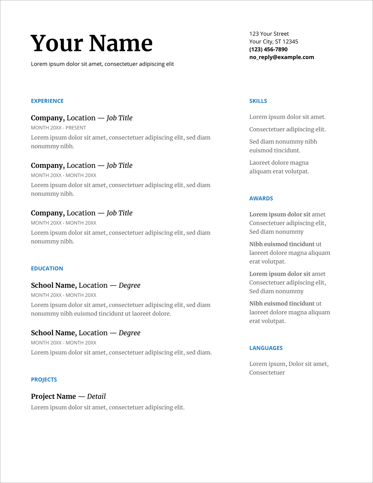 What do you do when an unexpected job opportunity arises and you don't have the luxury of spending a lot of time making it current? 25 Resume Templates For Google Docs Free Download