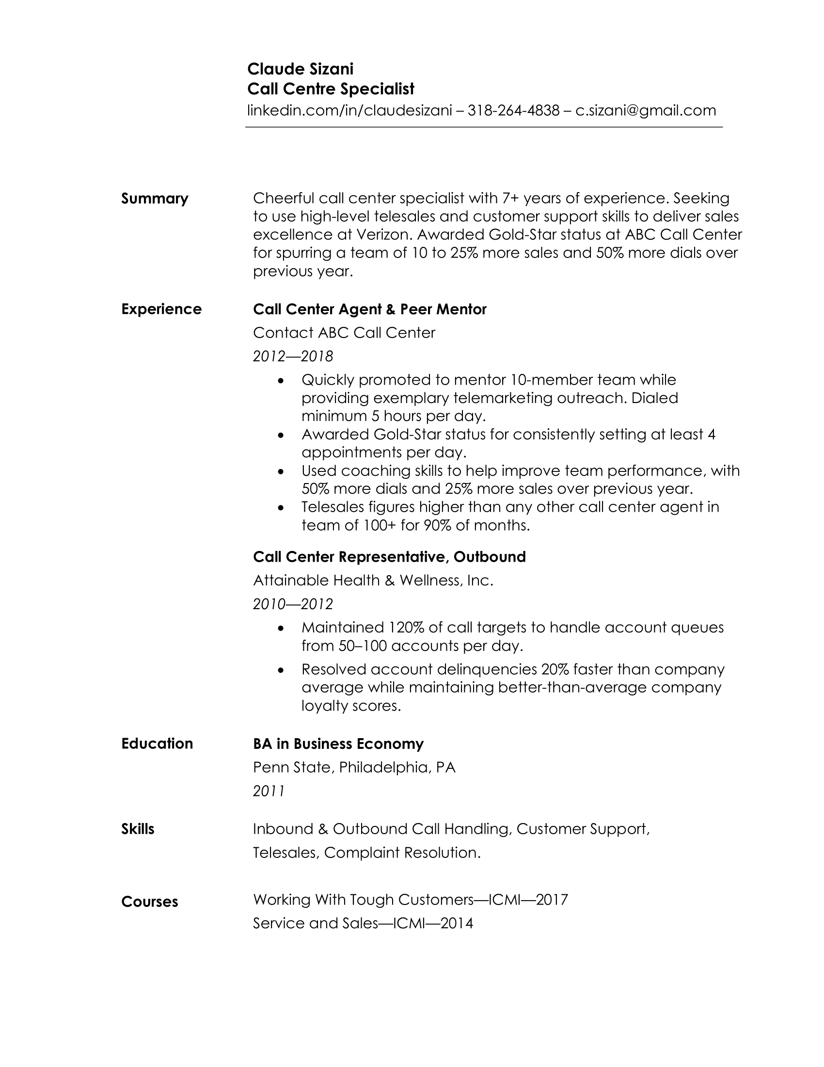 resume format for experienced in ms word
