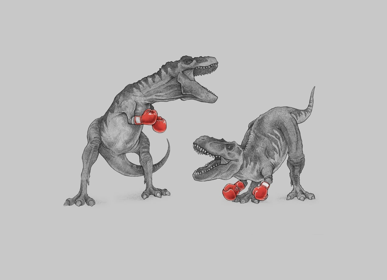 TRex Boxing by Mike Marshall  Threadless