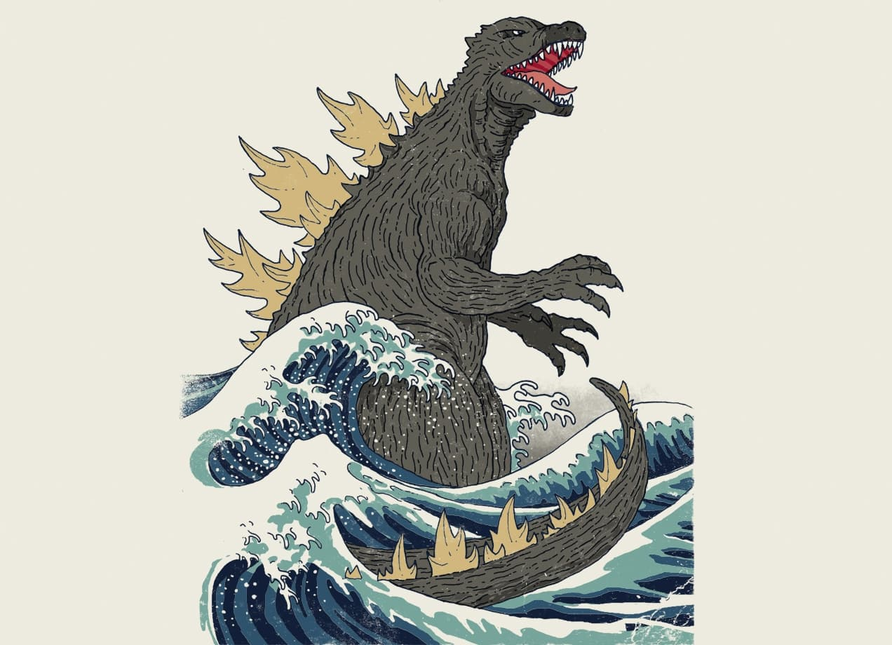 The Great Monster Off Kanagawa by Michael Buxton  Threadless