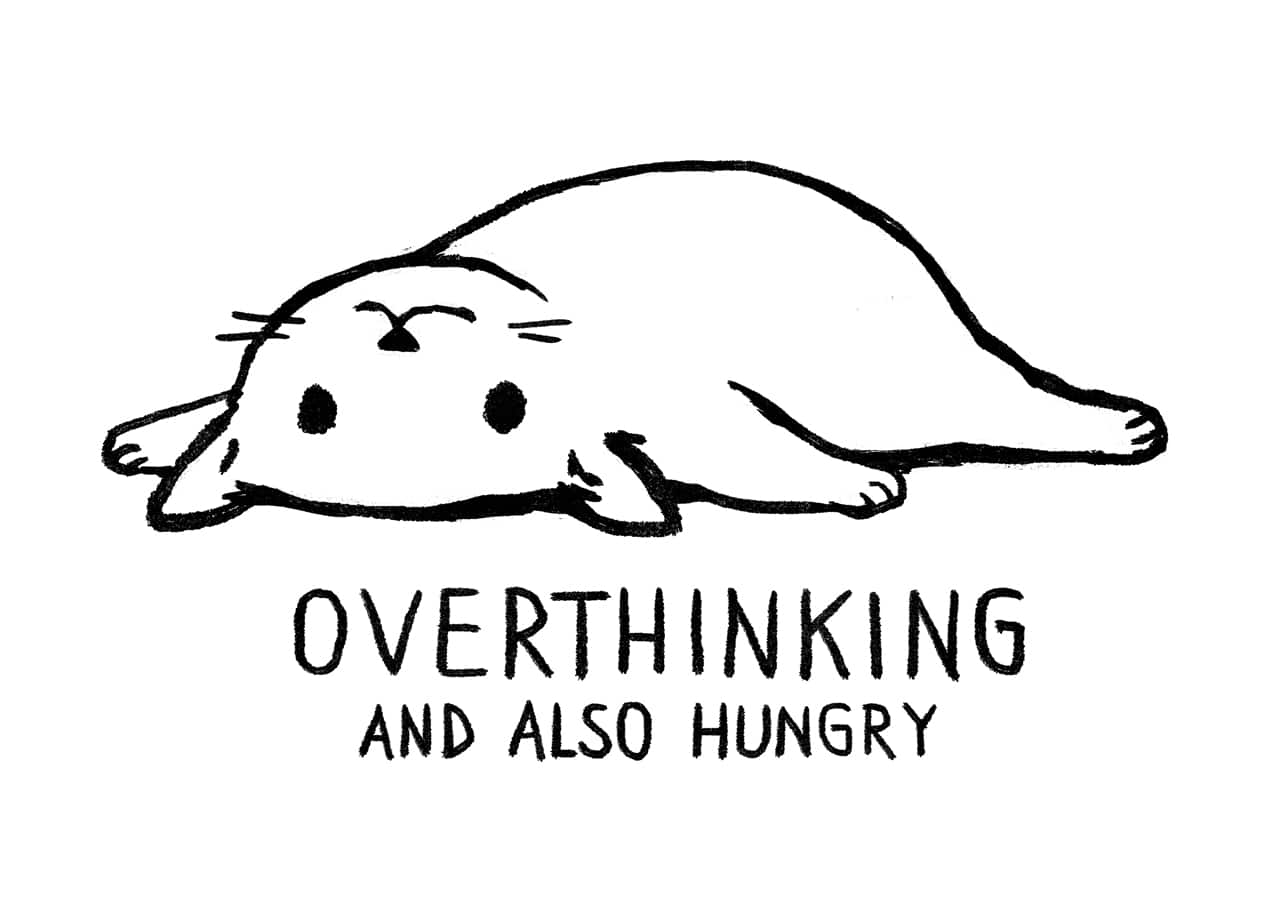 Overthinking And Also Hungry By Fox Shiver